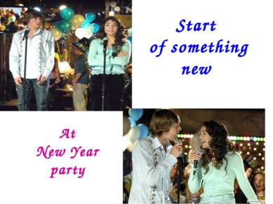 Start of something new At New Year party