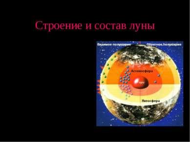 Строение и состав луны Плотность лунных пород составляет в среднем 3,343 г/см...