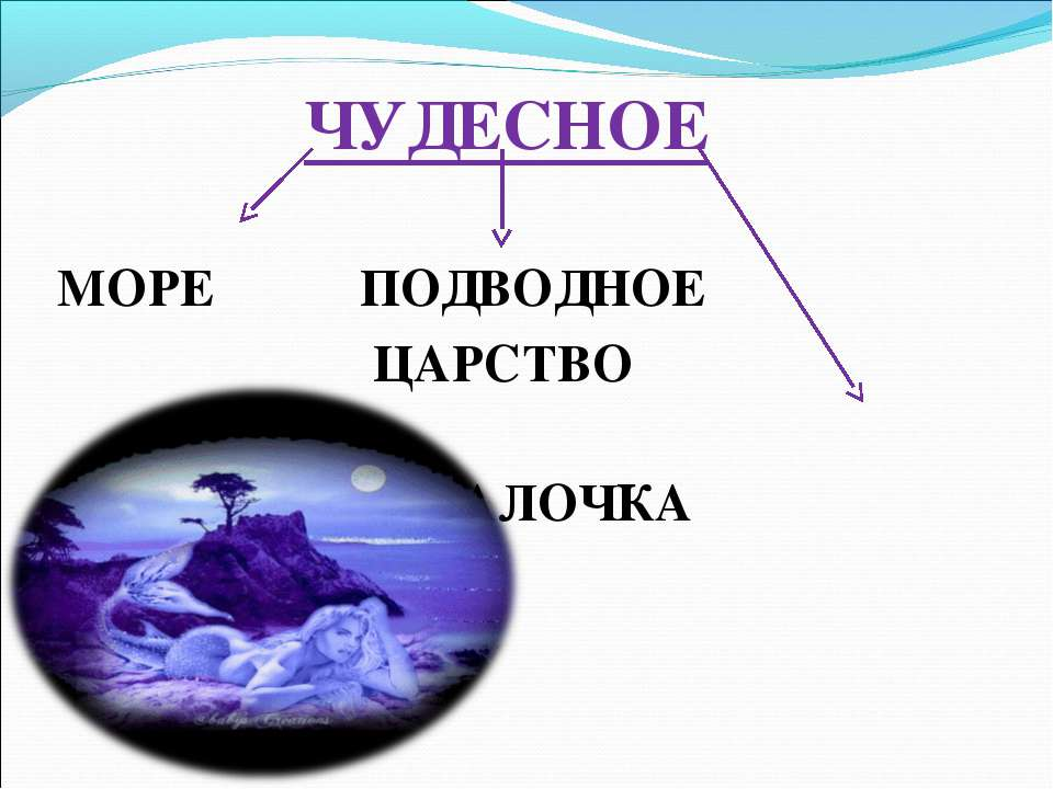 ЧУДЕСНОЕ  МОРЕ ПОДВОДНОЕ ЦАРСТВО  РУСАЛОЧКА