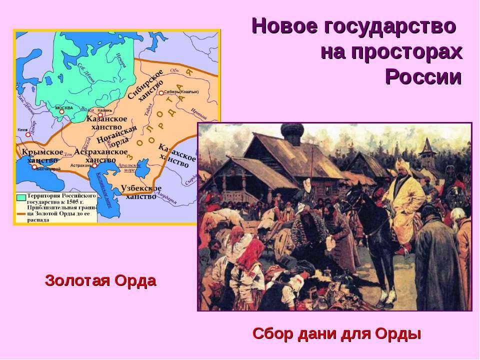 Новое государство на просторах России Золотая Орда Сбор дани для Орды