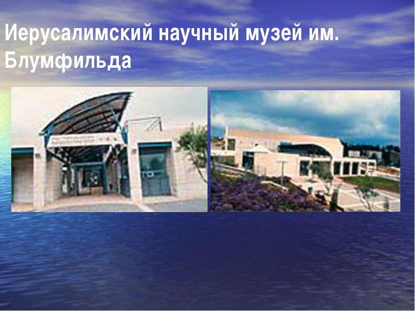 Иерусалимский научный музей им. Блумфильда