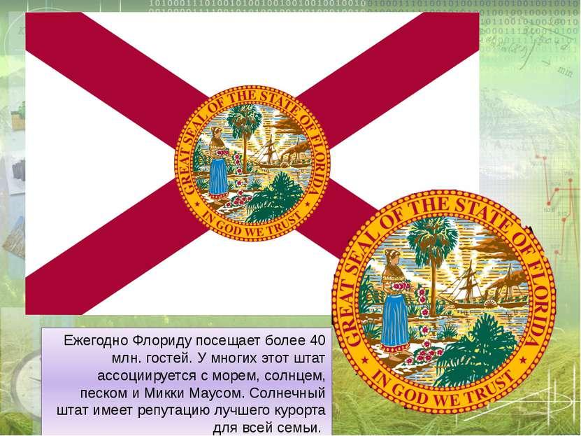 ЕжегодноФлориду посещает более 40 млн. гостей. У многих этот штат ассоциируе...