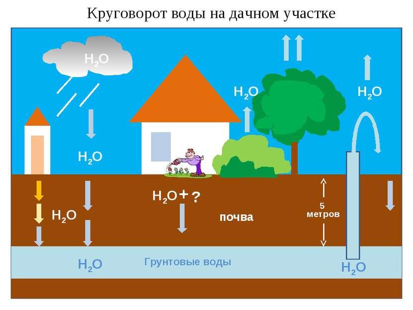 Круговорот воды на дачном участке ?
