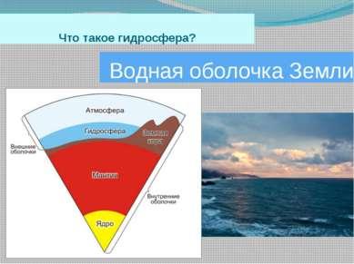 Что такое гидросфера? Водная оболочка Земли