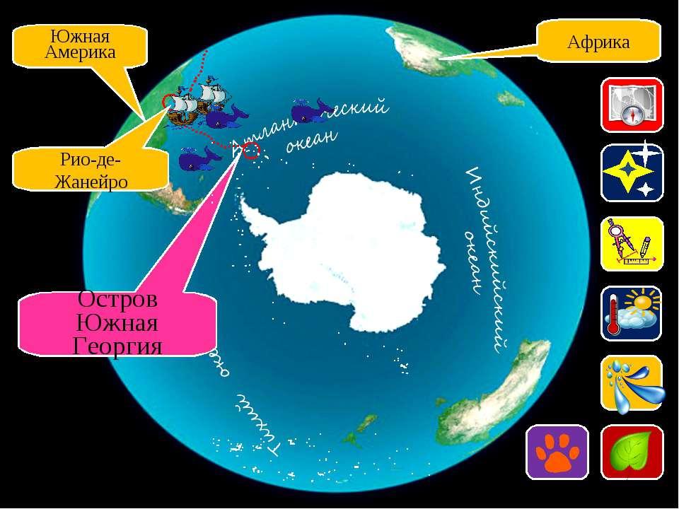 Африка Южная Америка Рио-де-Жанейро Остров Южная Георгия