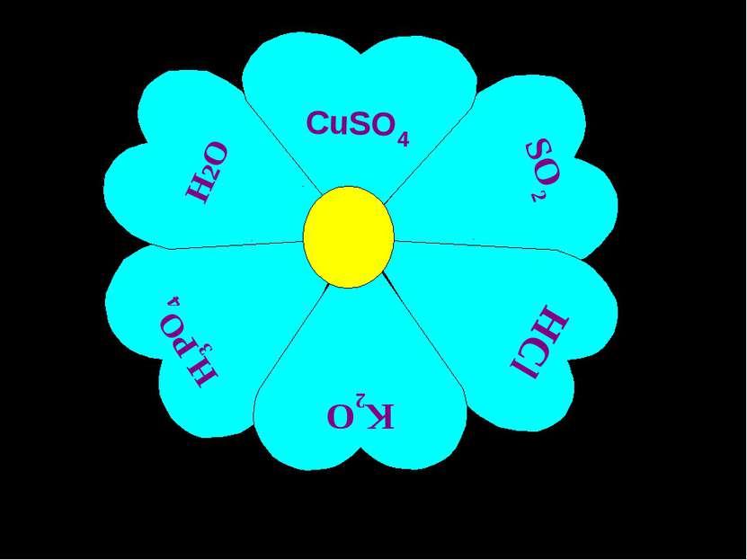 SO2 HCl H3PO4 H2O K2O CuSO4