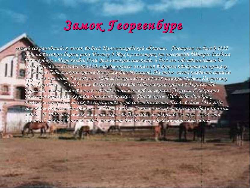 Замок Георгенбург самый сохранившийся замок во всей Калининградской области....