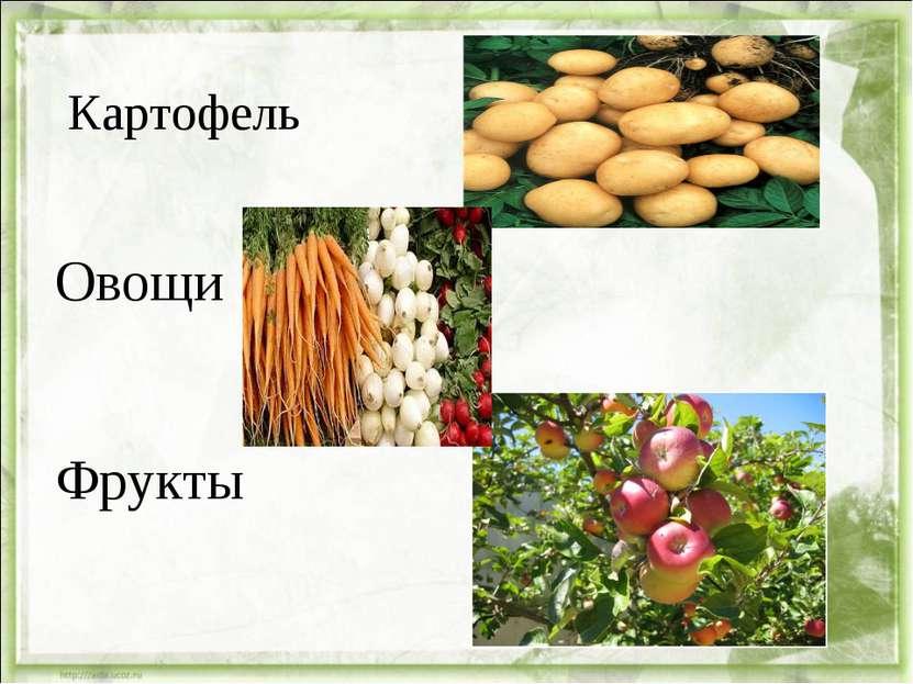 Картофель Овощи Фрукты