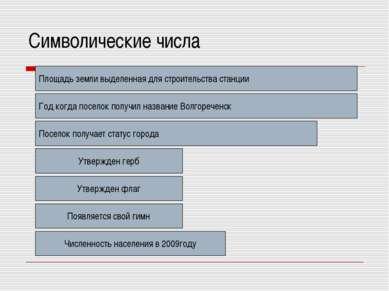 Символические числа 800 1964 1994 1998 2005 2006 Площадь земли выделенная для...