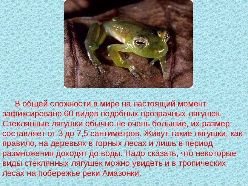 В общей сложности в мире на настоящий момент зафиксировано 60 видов подобных ...