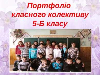 Портфоліо класного колективу 5-Б класу