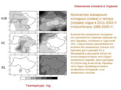 Изменение климата в Украине Температура год Количество аномально холодных (сл...