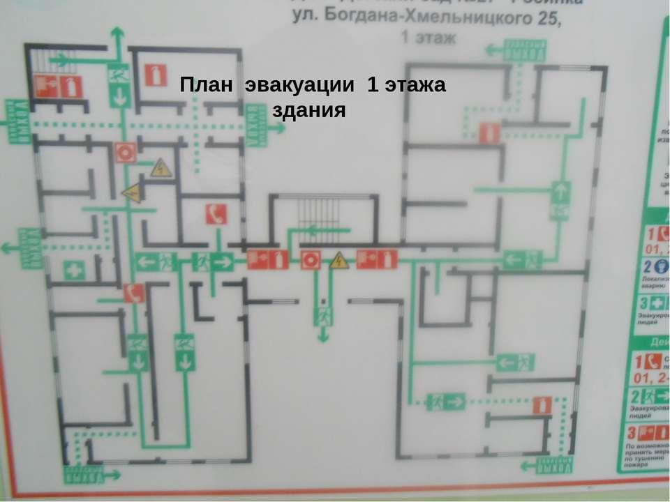 План эвакуации 1 этажа здания