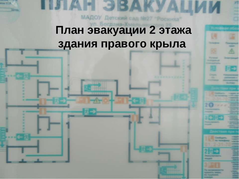 План эвакуации 2 этажа здания правого крыла