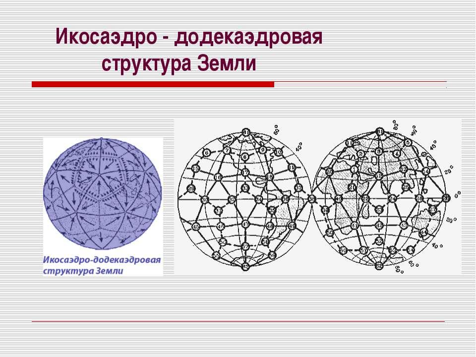 Икосаэдро - додекаэдровая структура Земли