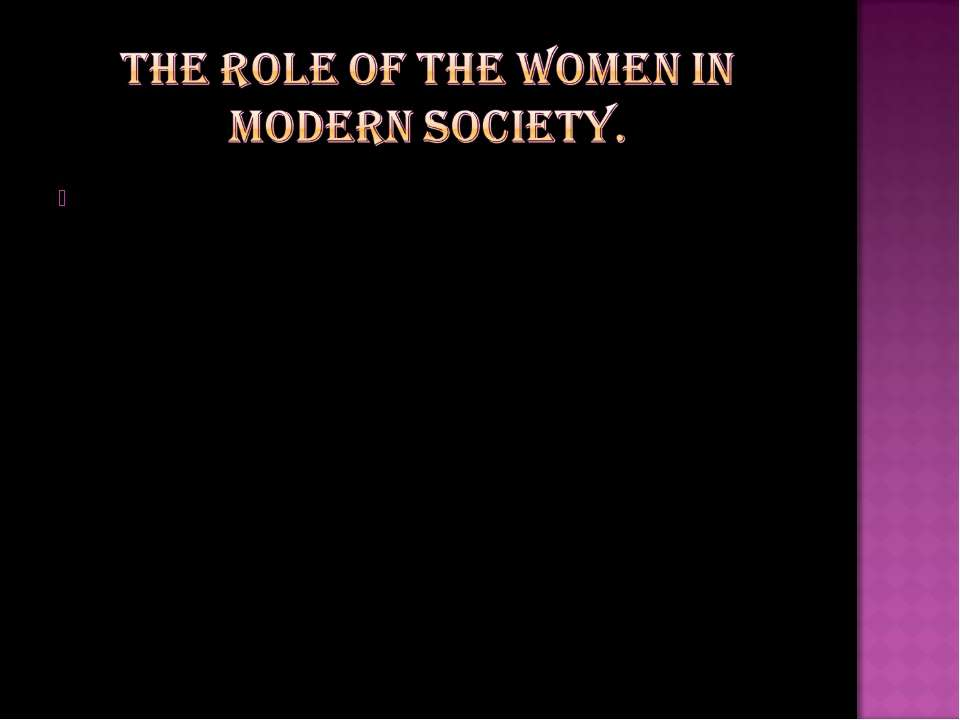 the role of women in modern society essay papers