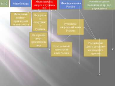 МЧС Минобороны Министерство спорта и туризма РФ Минобразования России органы ...