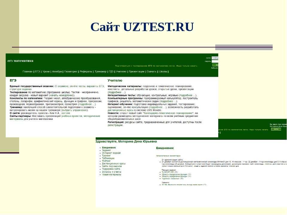 Сайт UZTEST.RU