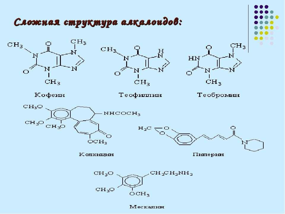 Сложная структура алкалоидов: