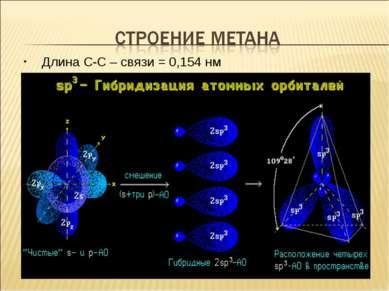 Длина С-С – связи = 0,154 нм