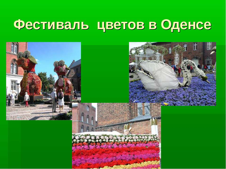 Фестиваль цветов в Оденсе