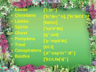 Easter Christians Lambs Spirits Ghost Pumpkins Treat Conspirators Bonfire ['i...