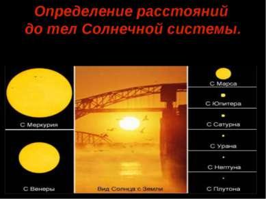 Определение расстояний до тел Солнечной системы.