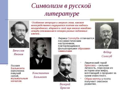 Символизм в русской литературе Лирический герой Брюсова – сильная личность, п...