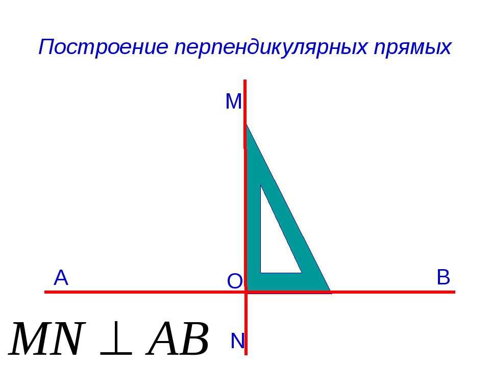 Построение перпендикулярных прямых M B A N O