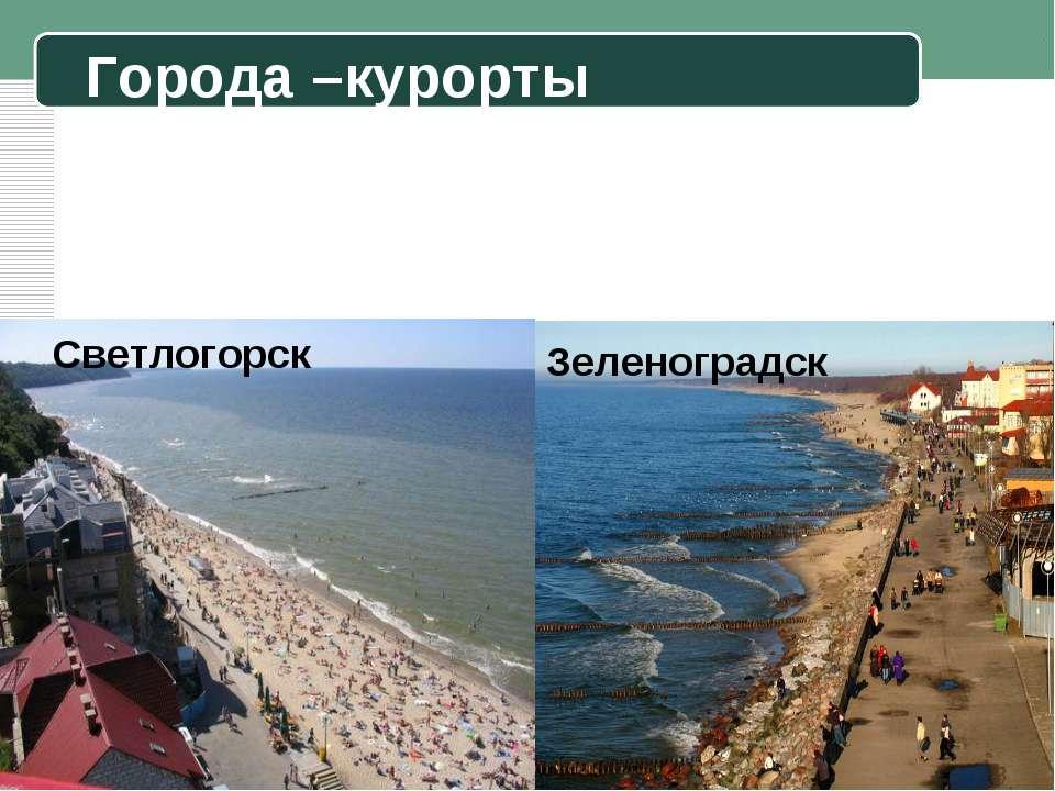 Города –курорты Светлогорск Зеленоградск