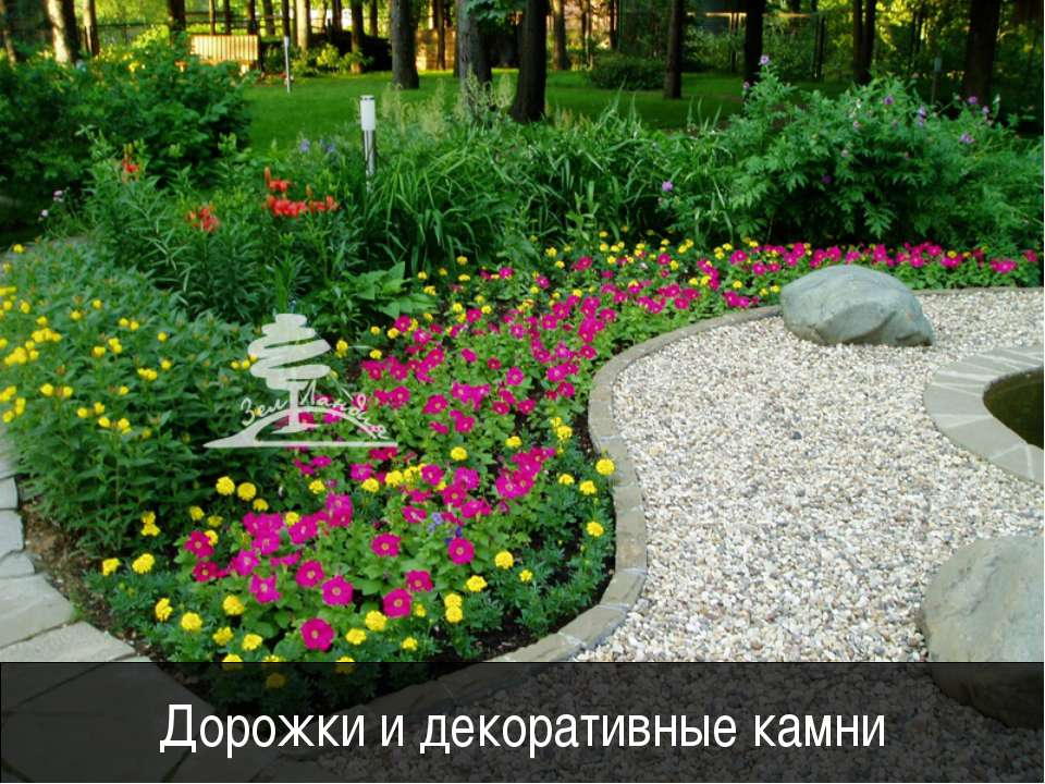 Дорожки и декоративные камни