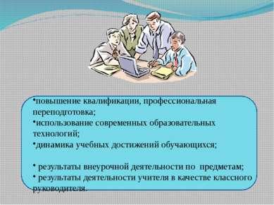 повышение квалификации, профессиональная переподготовка; использование соврем...