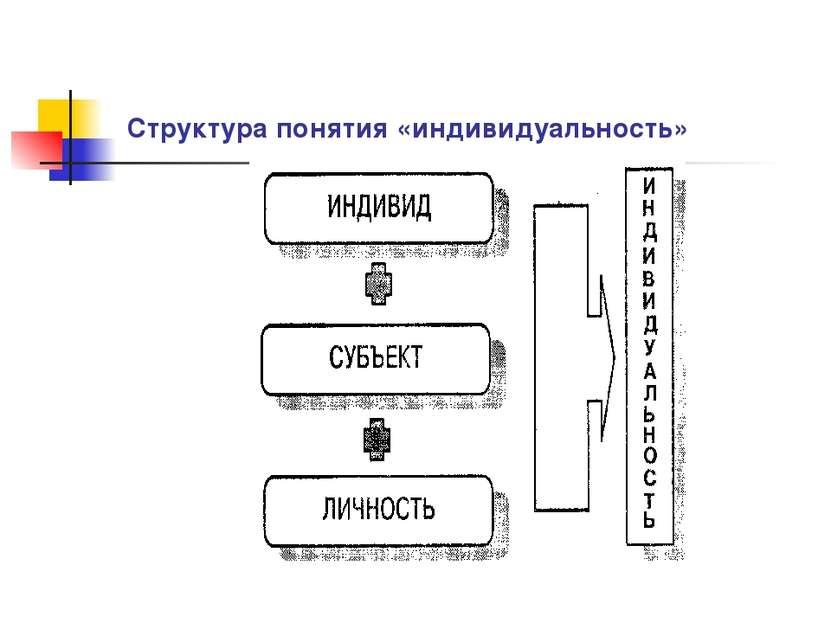 Структура понятия «индивидуальность»