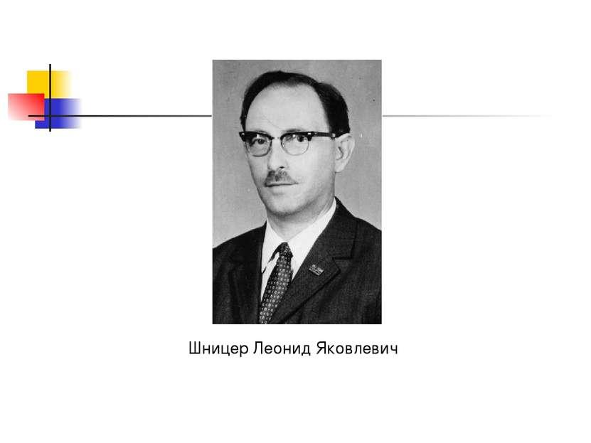 Шницер Леонид Яковлевич