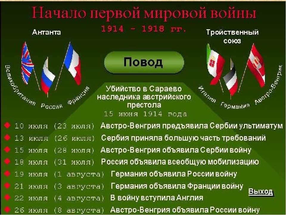 вызывает себе причины вступления россии в 1 мировую причиной недостачи