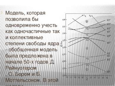 Модель, которая позволила бы одновременно учесть как одночастичные так и колл...