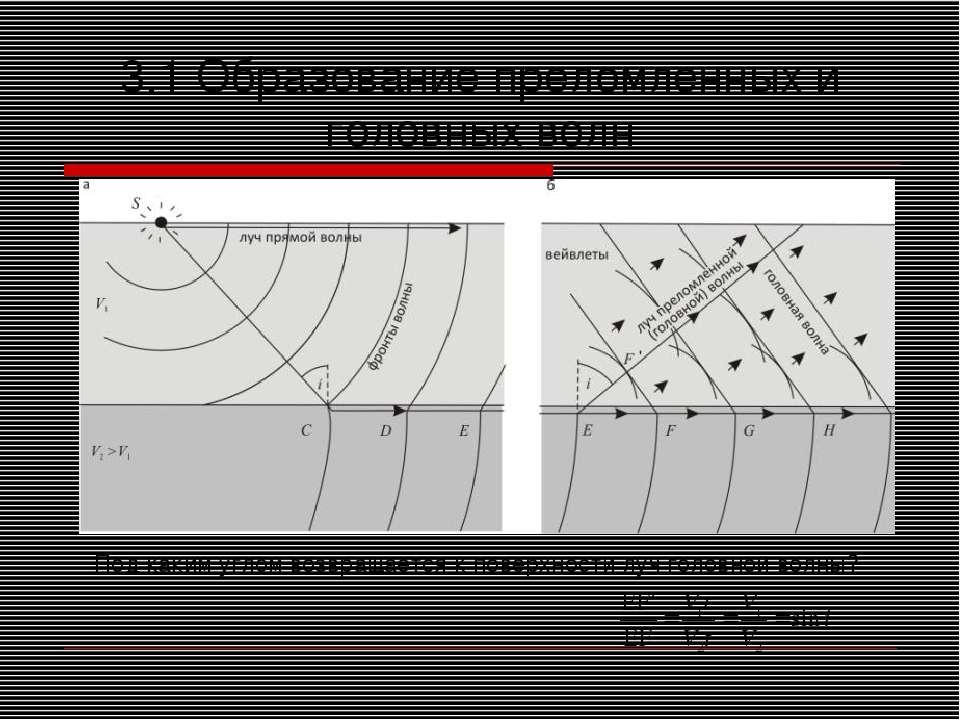 3.1 Образование преломленных и головных волн Под каким углом возвращается к п...