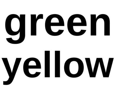 green yellow