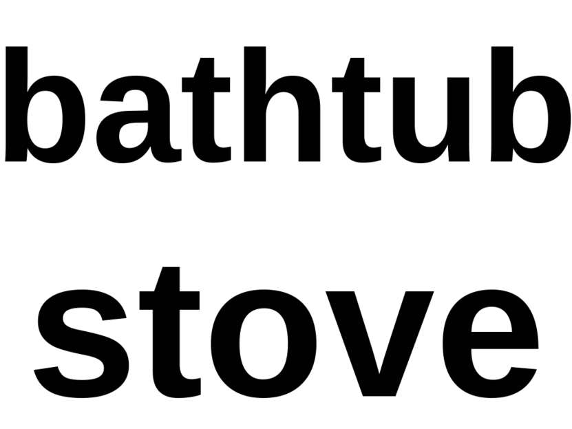bathtub stove