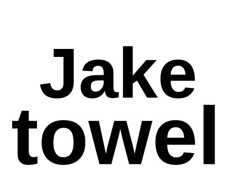 Jake towel