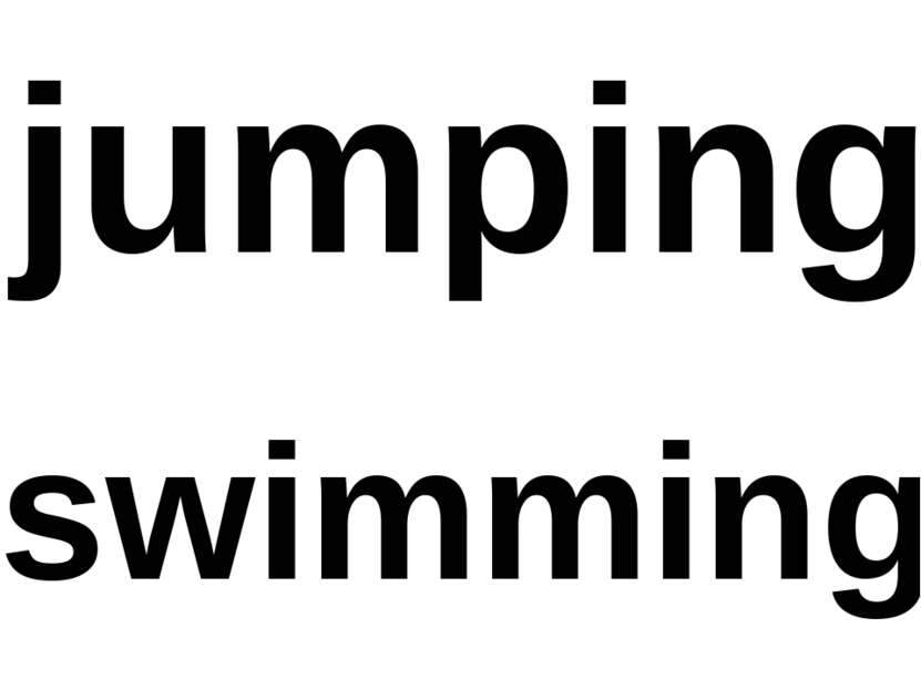 jumping swimming