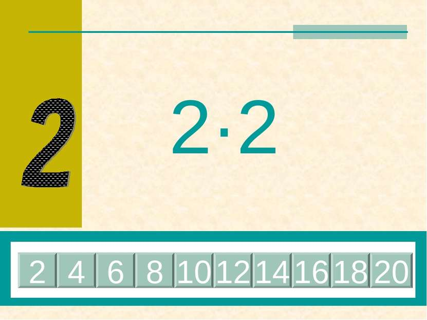 2·2 4 2 6 8 10 12 14 16 18 20