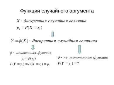 Функции случайного аргумента