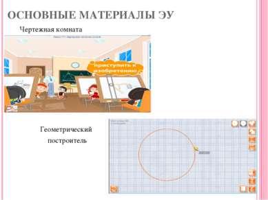 ОСНОВНЫЕ МАТЕРИАЛЫ ЭУ Чертежная комната Геометрический построитель *