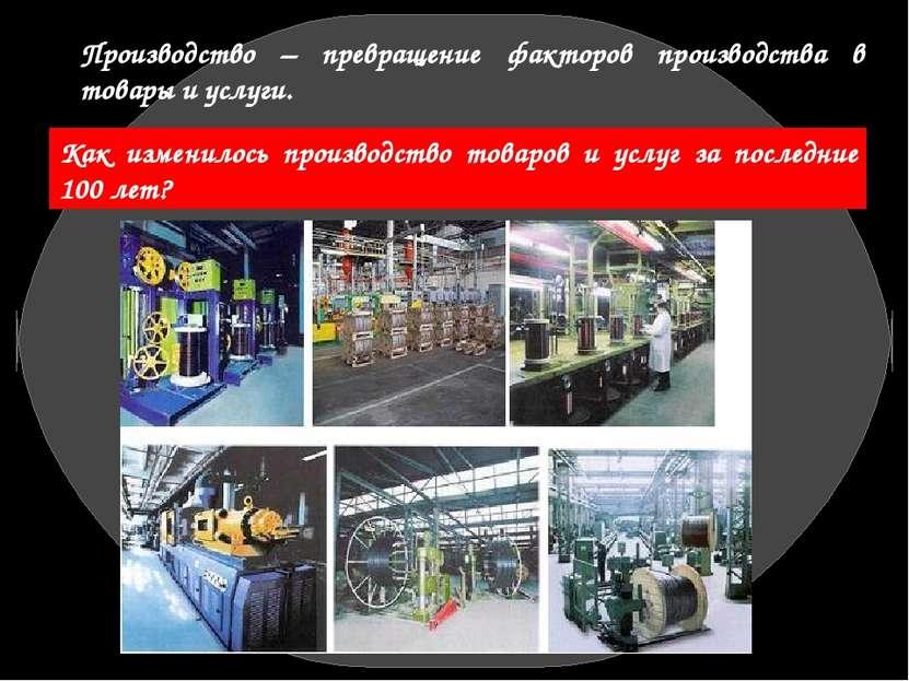 Производство – превращение факторов производства в товары и услуги. Как измен...