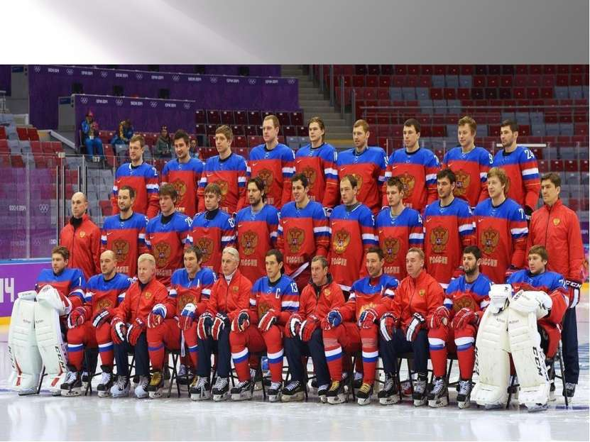 Russian national team on hockey The Russian men's national ice hockey team ...