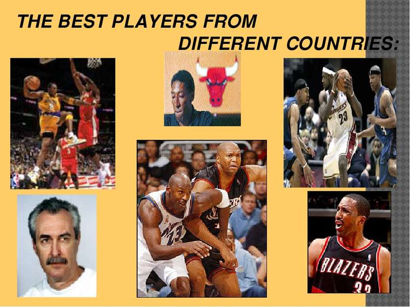 THE BEST PLAYERS FROM DIFFERENT COUNTRIES: