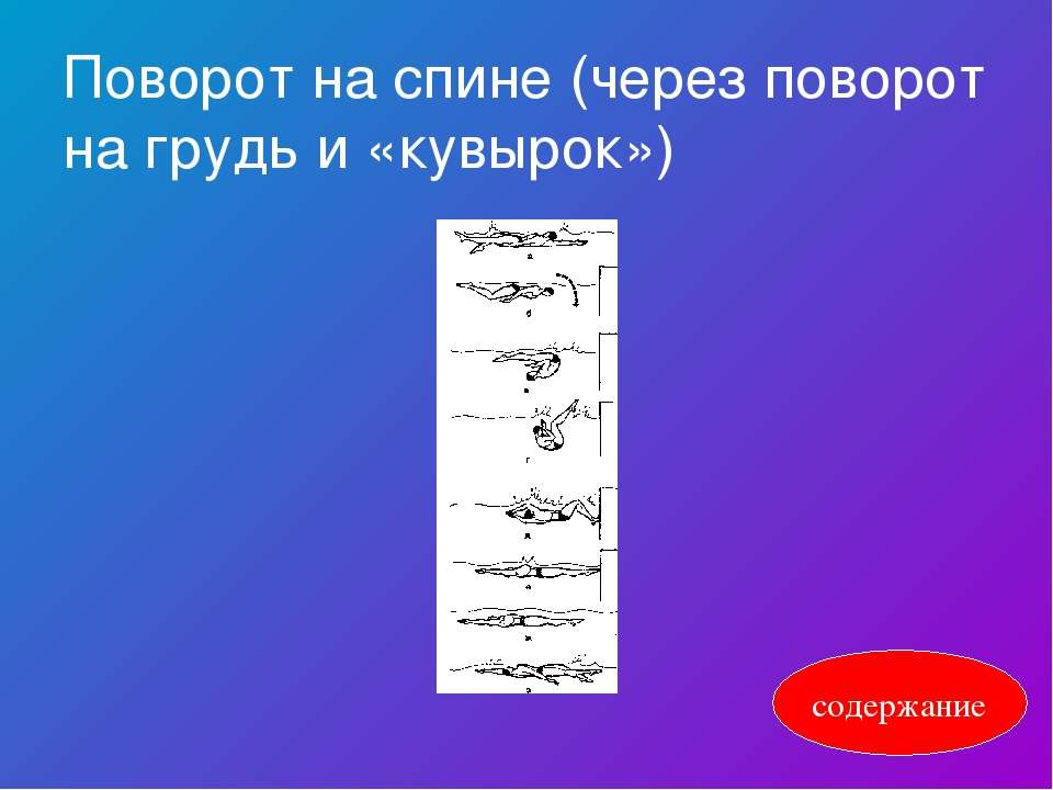 Поворот на спине (через поворот на грудь и «кувырок») содержание