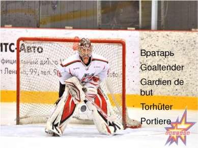 Вратарь Goaltender Gardien de but Torhüter Portiere