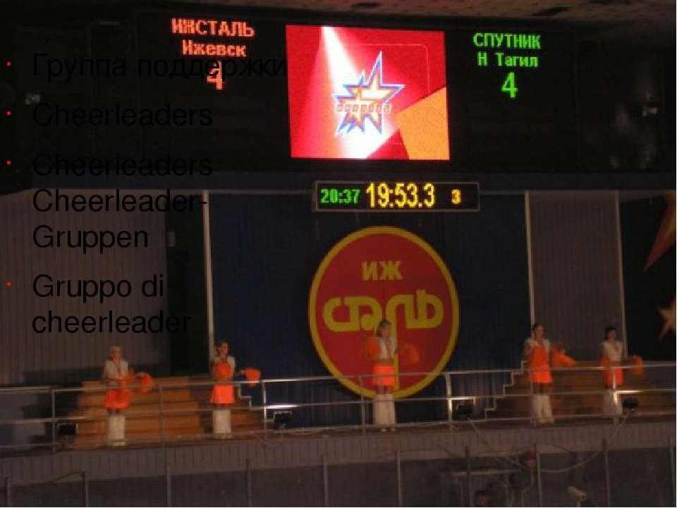 Группа поддержки Cheerleaders Cheerleaders Cheerleader-Gruppen Gruppo di chee...